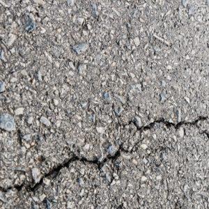 cracking asphalt